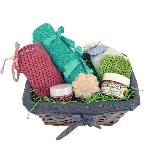 Καλάθι δώρου με προϊόντα περιποίησης