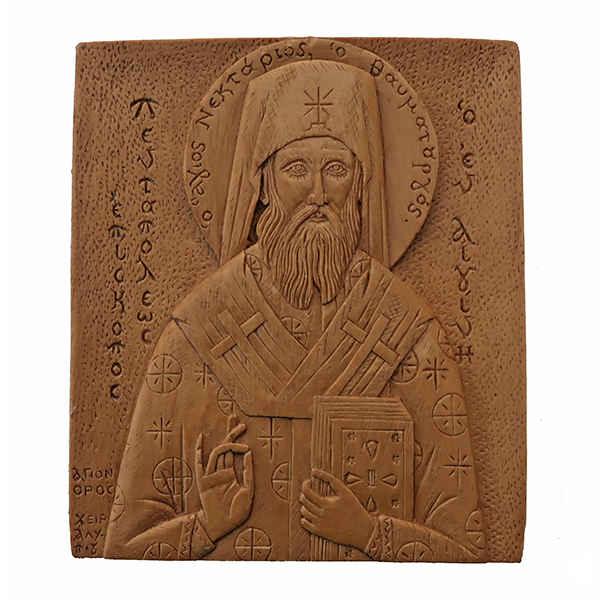 Άγιος Νεκτάριος (κέρινη εικόνα)