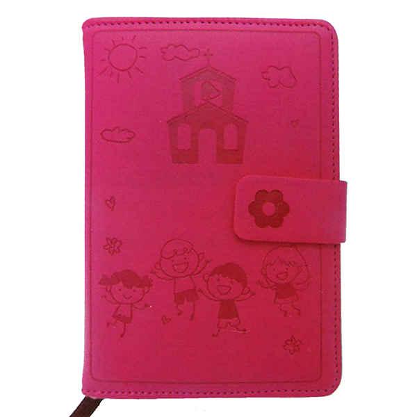 Παιδικό σημειωματάριο σε φούξια χρώμα.